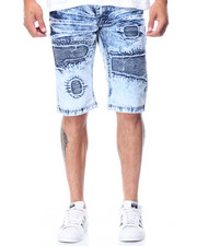 Men - Rips & Tears Moto Denim Shorts