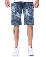 Men - Destructed Denim Shorts