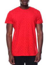 T-Shirts - S/S Preforated Holes Crew Neck Tee