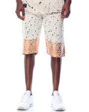 Men - Tribal Printed Terry Shorts
