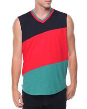 Shirts - Sleeveless Color Block Tee