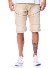 Shorts - Color Denim Moto Shorts