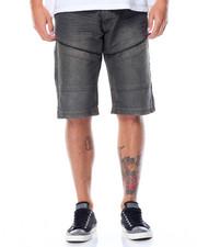 Men - Color Denim Moto Shorts