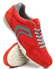 Footwear - Snake Mesh & Suede Sneakers