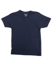 Arcade Styles - V-Neck Solid Tee (8-20)-2102206