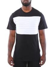 T-Shirts - Cut & Sew Side Zippers Pintuck Tee
