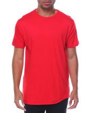 Shirts - S/S Curved Hem Side Zippers Long Tee