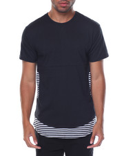 T-Shirts - S/S Curved Bottom Layer Insert Crew Neck Tee