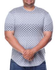 Shirts - S/S Star Print Scalloped Bottom Tee (B&T)