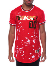 Shirts - Splatter Print V-neck