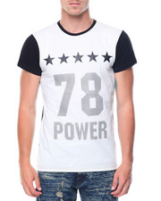 Shirts - S/S Contrast Color Crewneck  Number Tee