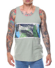 Tanks - Leaf Feather Printed Tank