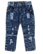 Sizes 2T-4T - Toddler - Rip Knee Moto Jeans (2T-4T)