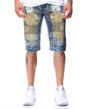Men - Rip & Repair Moto Denim Shorts