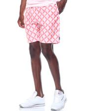 Shorts - Diamond Tile Belted Shorts