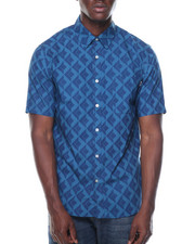 Button-downs - Diamond Tiles S/S Button-down