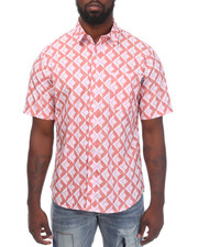 Summer-Mens - Diamond Tiles S/S Button-down