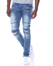 Jeans & Pants - Pleated Knee Denim Jean