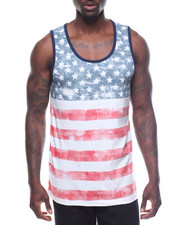 Tanks - Horizontal Striped Americana Tank