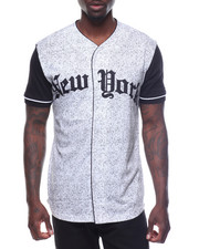 Button-downs - Short Sleeve NY Baseball Tee