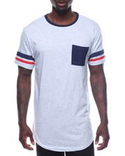 T-Shirts - S/S Stripe Sleeve Tee