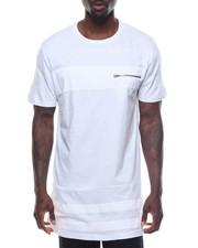 Shirts - Long Length Tee W/ Tonal Stripes
