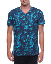 Shirts - S/S Floral V Neck Tee