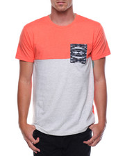 Shirts - S/S Colorblock Pocket Tee