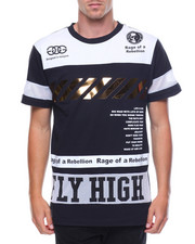 T-Shirts - Fly High S/S Tee W/Gold Trim