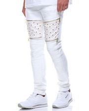 Jeans & Pants - Studded Vegan Leather Insert Jean
