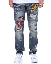 Jeans & Pants - Distressed Patch Denim Jeans