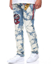 Jeans & Pants - Bleach Wash Denim Jeans