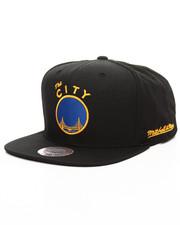 NBA, MLB, NFL Gear - Golden State Warriors Black Ripstop Honeycomb HWC Snapback Cap
