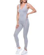 Jumpsuits - Front Lace-up Tank Catsuit