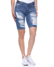 Fashion Lab - Denim Ripped Bermuda