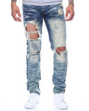 Jeans & Pants - Ripped & Dyed Denim
