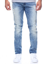 Jeans & Pants - Knee Trim Rip Stretch Denim