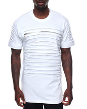 Shirts - Razor Slashed Tee w Zip Detail