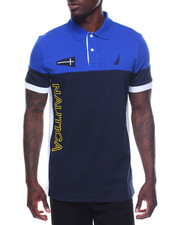 Nautica - Short Sleeve Logo Block Polo