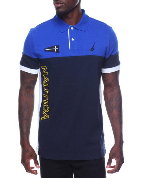 Nautica - Short Sleeve Logo Block Polo