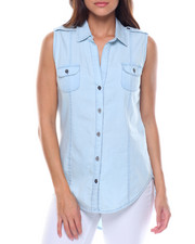 Tops - S/L Denim Shirt