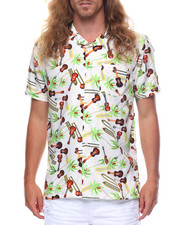 Button-downs - S/S Guitar Surf Printed Woven