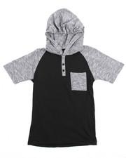 Tops - S/S Raglan Hooded Henley Tee (8-20)
