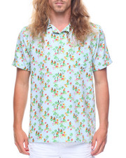 Button-downs - S/S Hawaiian Dancer Printed Woven