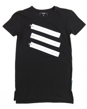 Sizes 8-20 - Big Kids - S/S Tee With Silver Zippers (8-20)