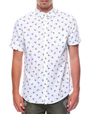 Button-downs - S/S Printed Bird Woven