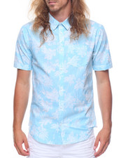 Men - S/S Printed Palm Tree Woven