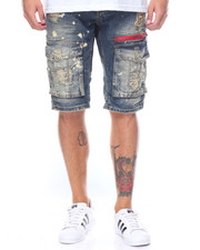 Men - Distressed Denim Short
