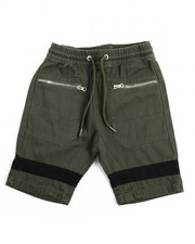 Arcade Styles - Twill Shorts With Silver Zippers (8-20)