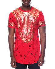 Men - Dashiki Foil Printed Tee